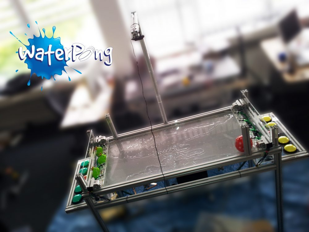 Waterpong (1st Place People's Choice Award by UIST) : Microsoft PumpSpark Kit for Fluid User Interfaces